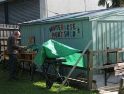 A men's shed in Australia