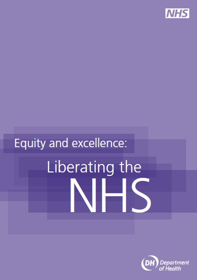Liberating the NHS white paper cover